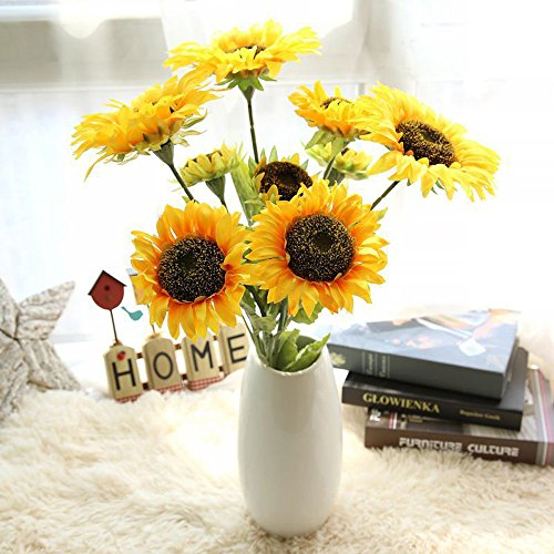AIUSD Clearance , Artificial Fake Flowers Sunflower Floral Wedding Bouquet Party Home Decor ()