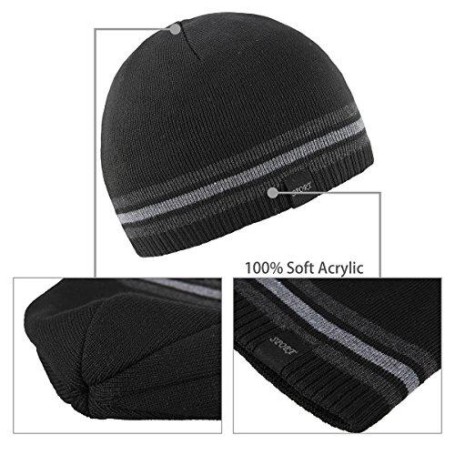 1e65e5eced0 OMECHY Mens Winter Beanie Hat Warm Cuff Toboggan Knit Ski Skull Cap - Buy  Online in KSA. Apparel products in Saudi Arabia. See Prices