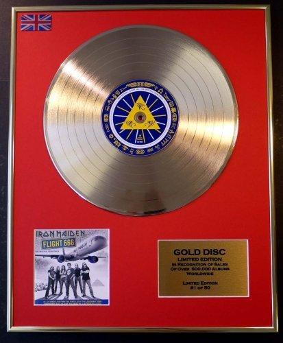 IRON MAIDEN Goldene Schallplatte Record Limitierte Edition FLIGHT 666