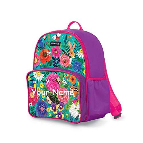 - Crocodile Creek Personalized Secret Garden Flowers and Animal Design Back to School Backpack Book Bag with Custom Name