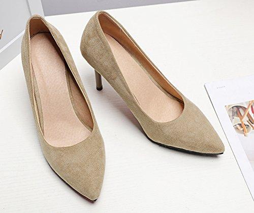 Femme Chaussures Abricot Pour Mariage Escarpins Aisun Simple Stiletto 8dpw8qB