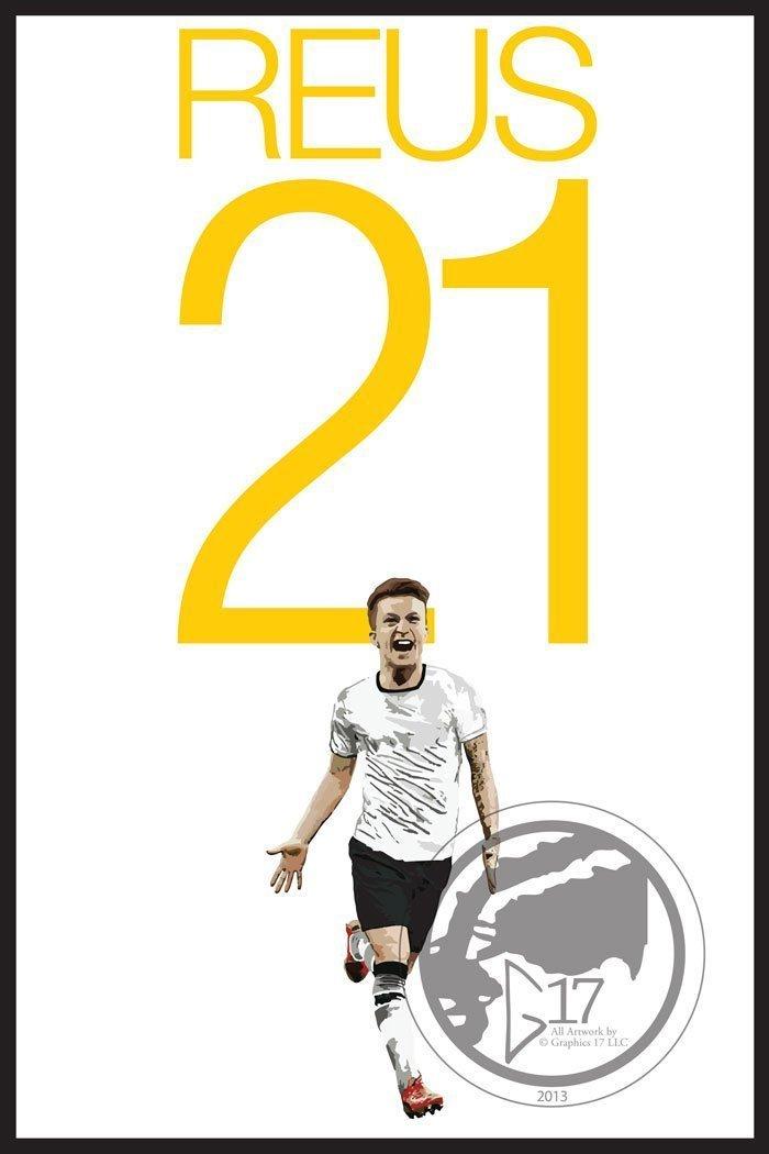 Amazon.com: Marco Reus Poster - German Soccer Art: Handmade