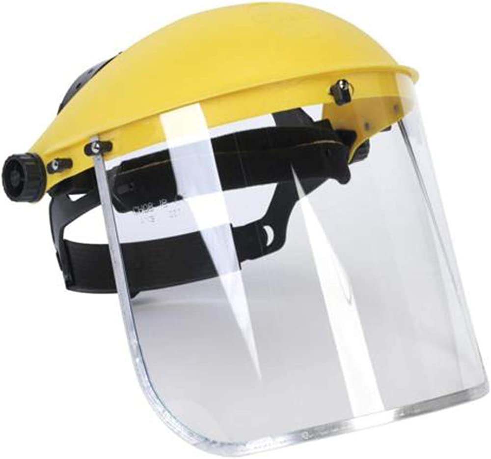 Clear Safety Protective Cover Head-mounted Face Eye Shield Grinding Screen Anti-Spitting Face Cover