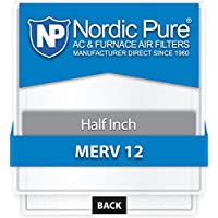 Nordic Pure 20x20x_1/2_M12-12 1/2-Inch Air Filter MERV 12, Box of 12