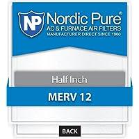 Nordic Pure 20x20x_1/2_M12-12 1/2-Inch Air Filter MERV 12, Box of 12