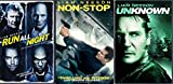 Unknown Liam Neeson 3 Film Collection & Non-Stop + Run All Night Action / Drama Movie Bundle Triple Feature Set