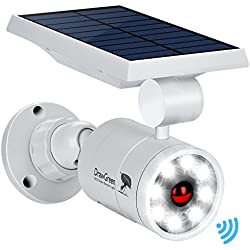 DrawGreen DG08-A Solar Outdoor Motion Sensor,1400-Lumens Bright LED Spotlight 5W(110W Equiv.) Light, White