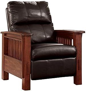 Ashley Furniture Signature Design - Santa Fe Recliner - Manual Reclining Chair - Chocolate Brown  sc 1 st  Amazon.com & Amazon.com: Metro Shop TRIBECCA HOME Hills Mission-style Oak/ Rust ...