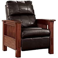 Ashley Furniture Signature Design - Santa Fe Recliner - Manual Reclining Chair - Chocolate Brown
