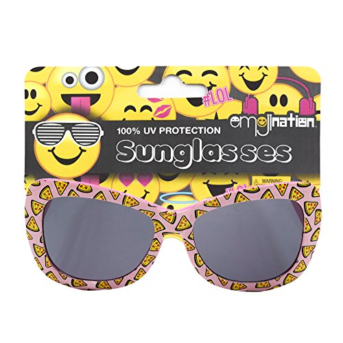 Girls Emojination Non Polarized Sunglasses with 100% UV Protection Wayfarer Frame - Kids Cooling Glasses