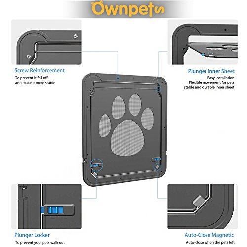 OWNPETS Dog Screen Door, Lockable Pet Screen Door, Magnetic Self-Closing Screen Door with Locking Function, Sturdy Screen Door for Dog Cat by OWNPETS (Image #2)