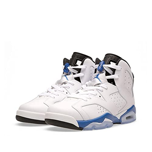 new concept 81baa dcf66 Air Jordan 6 Vi Retro Grade School Boy Basketball Sneakers White Black Sport  Blue