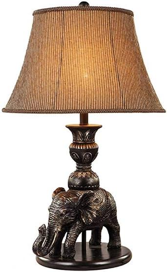 JFHGNJ lámpara de mesa Elefante antiguo Lámpara de mesa Hotel ...