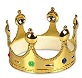 Rhode Island Novelty Gold Queen King or Prince Crown