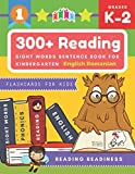 300+ Reading Sight Words Sentence Book for Kindergarten English Romanian Flashcards for Kids: I Can Read several short sentences building games plus ... reading good first teaching for all children.