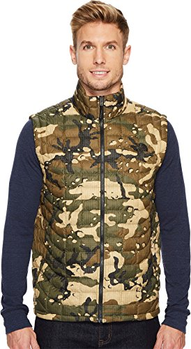 The North Face Thermoball Vest - Men's Burnt Olive Green Woodchip Camo Print Large