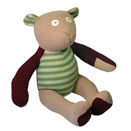 Cate and Levi 20 Handmade Bear Stuffed Animal (Premium Reclaimed Wool), Colors Will Vary