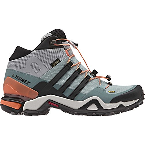 Adidas Terrex Fast R Mid Gtx W, Botas de Montaña para Mujer, Verde (Vertac/Negbas/Acevap), 38 EU