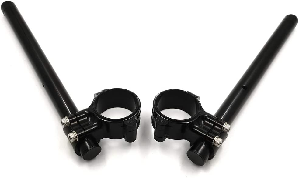 NBX GZSP-SP-55MM-FLCB 55mm Black Riser Clip on ons /& handle bar Compatible with BMW S1000 RR 2009-2014 S1000RR 09 10