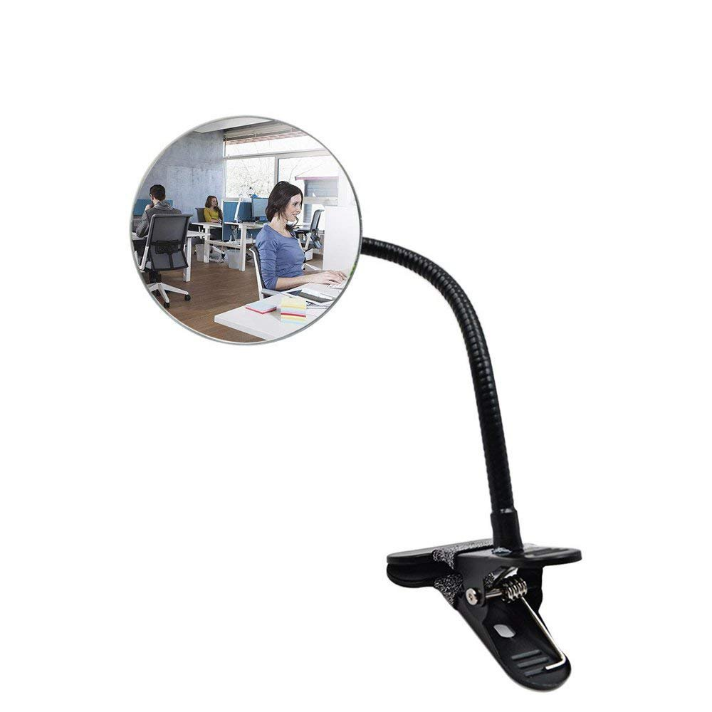 Clip on Cubicle Mirror,3.35''Computer Rear View Security Mirror,Office Desk Mirror with Clip for Personal Safety & Security by MIHOMECO by MIHOMECO