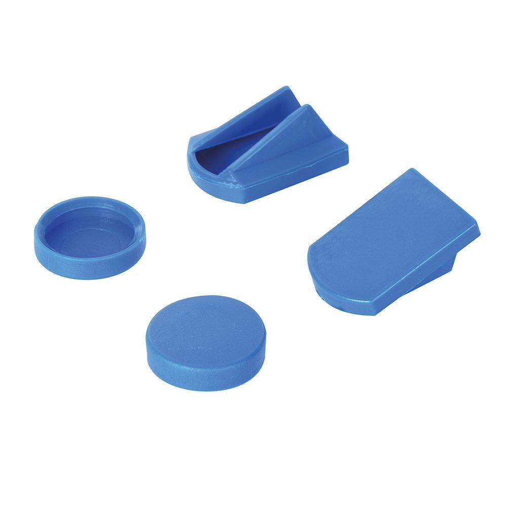 Silverline 829976 - Pack de 4 almohadillas de repuesto para mordazas, color azul