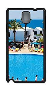 Samsung Galaxy Note 3 N9000 Cases & Covers -Holiday Village Flamingo Beach Custom PC Hard Case Cover for Samsung Galaxy Note 3 N9000¨CBlack