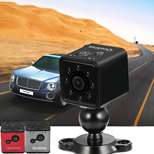 Tiean HD Car DVR Recorder,Quelima SQ13 Mini Full HD 1080P 2.33mm Lens 3MP Camera Pixel DV Sports Action Camera with 150° Wide Angle, Night Vision,Loop-cycle Recording(Silver)
