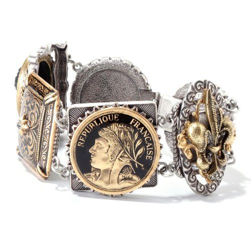 Fleur Lis De Cameo (Sweet Romance French Fleur de Lis Vintage Paris Cameo Bracelet)