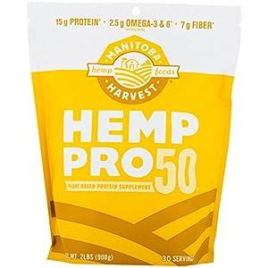Manitoba Harvest Hemp, Pro 50, 32 Ounce