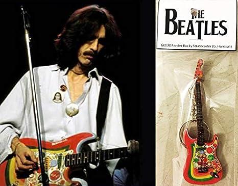 Llavero de guitarra Fender Rocky Stratocaster George Harrison The ...