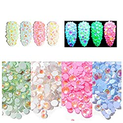 Luminous AB Crystal Rhinestones with Mixed Sizes