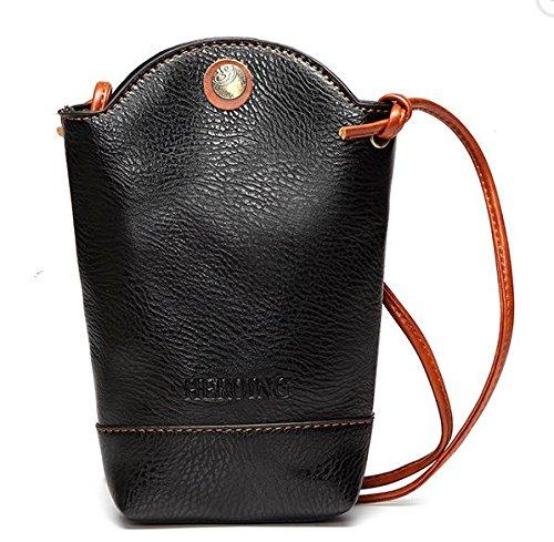 WeeDee Women Irregular Little Phone Bag small Trendy messenger bag Casual PU Crossbody Bag Bucket Bag