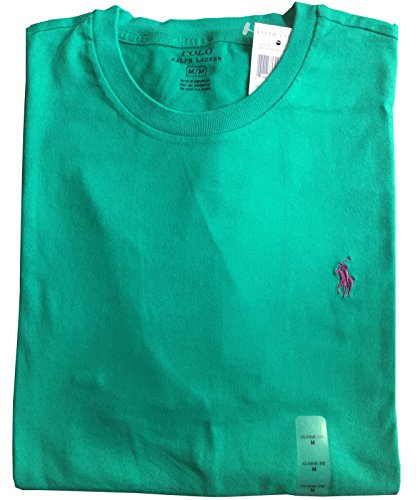 51b4c9bc Polo Ralph Lauren Men Classic Fit Crew Neck Pony Logo T-shirt (L, Pool  green) - Buy Online in UAE. | Apparel Products in the UAE - See Prices, ...