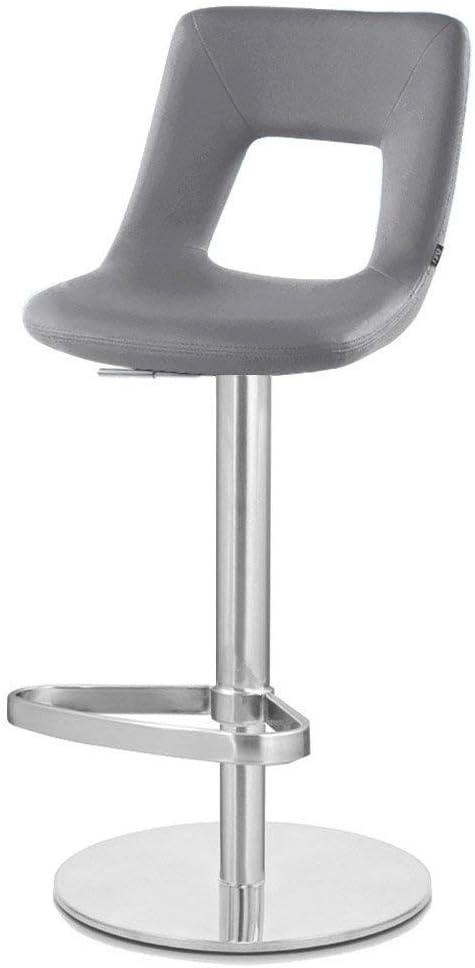 Zuri Furniture Slate Jazz Bar Stool – Round Flat Base