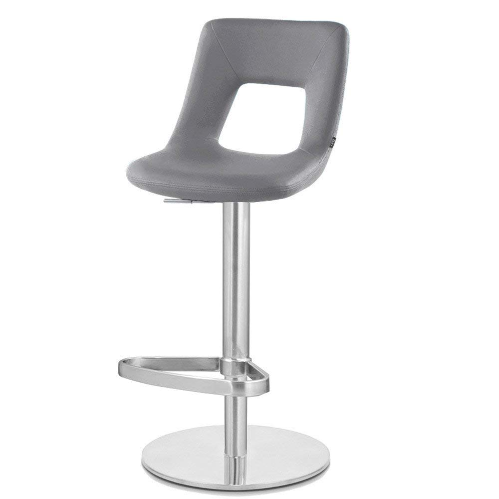 Zuri Furniture Slate Jazz Bar Stool – Round Flat Base