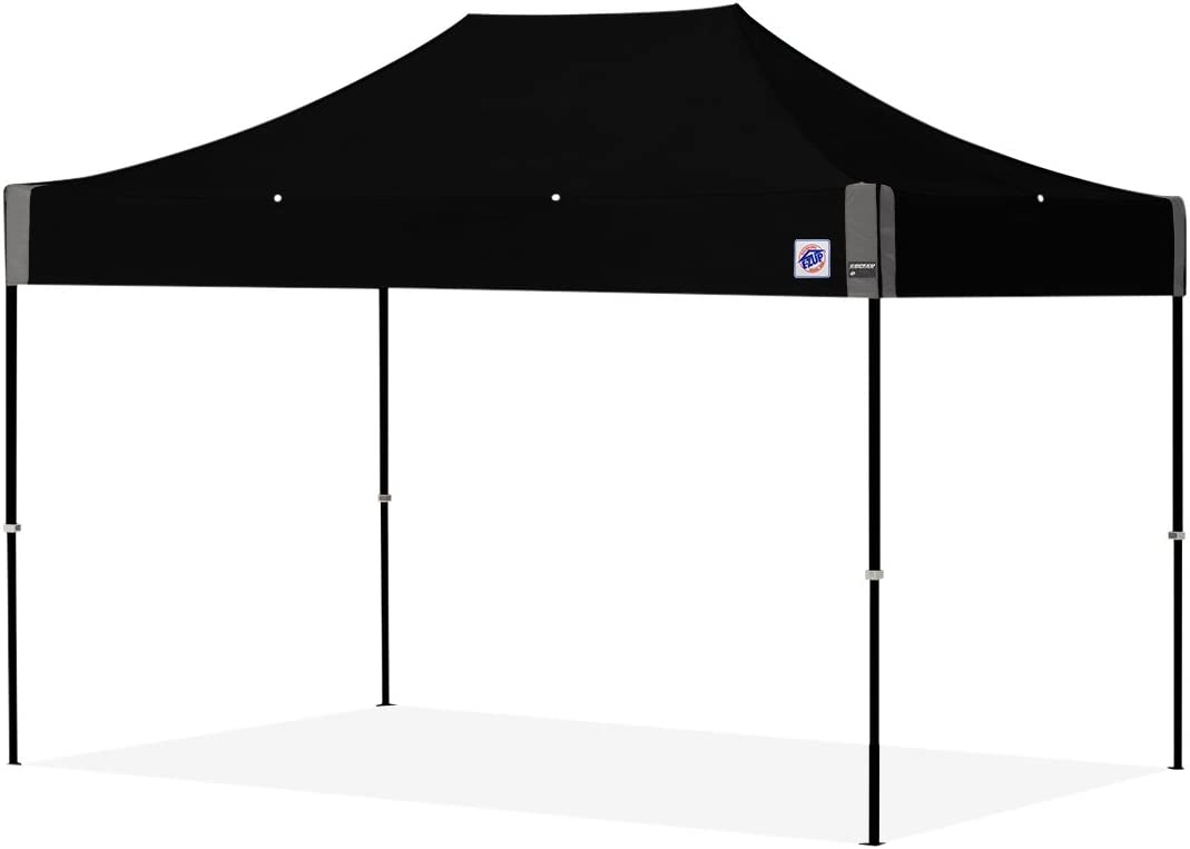 E-Z UP SS3STL0812KFBKTBK Top, 8 x 12 Speed Instant Shelter Canopy with Black Frame and Blac