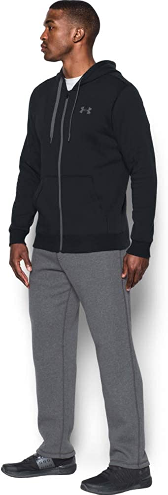 Breathable Mens Hooded Jacket Comfortable Zip Hoodie with Tight Fit Under Armour Rival Fitted Mens Sport Jacket with Full-Length Zip