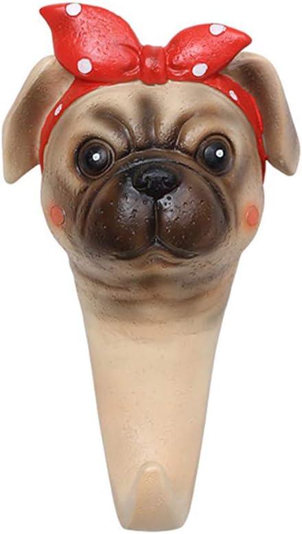 Decorative Animals Wall Coat Hooks, Creative Dog Shape Utility Hook, Art Deco Hat Towel Key Bag Hanger Rack for Home, Kitchens, Bathroom, Bedroom,D