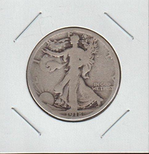 1918 Half Silver Dollar (1918 S Liberty Walking (1916-1947) Half Dollar Very Good)