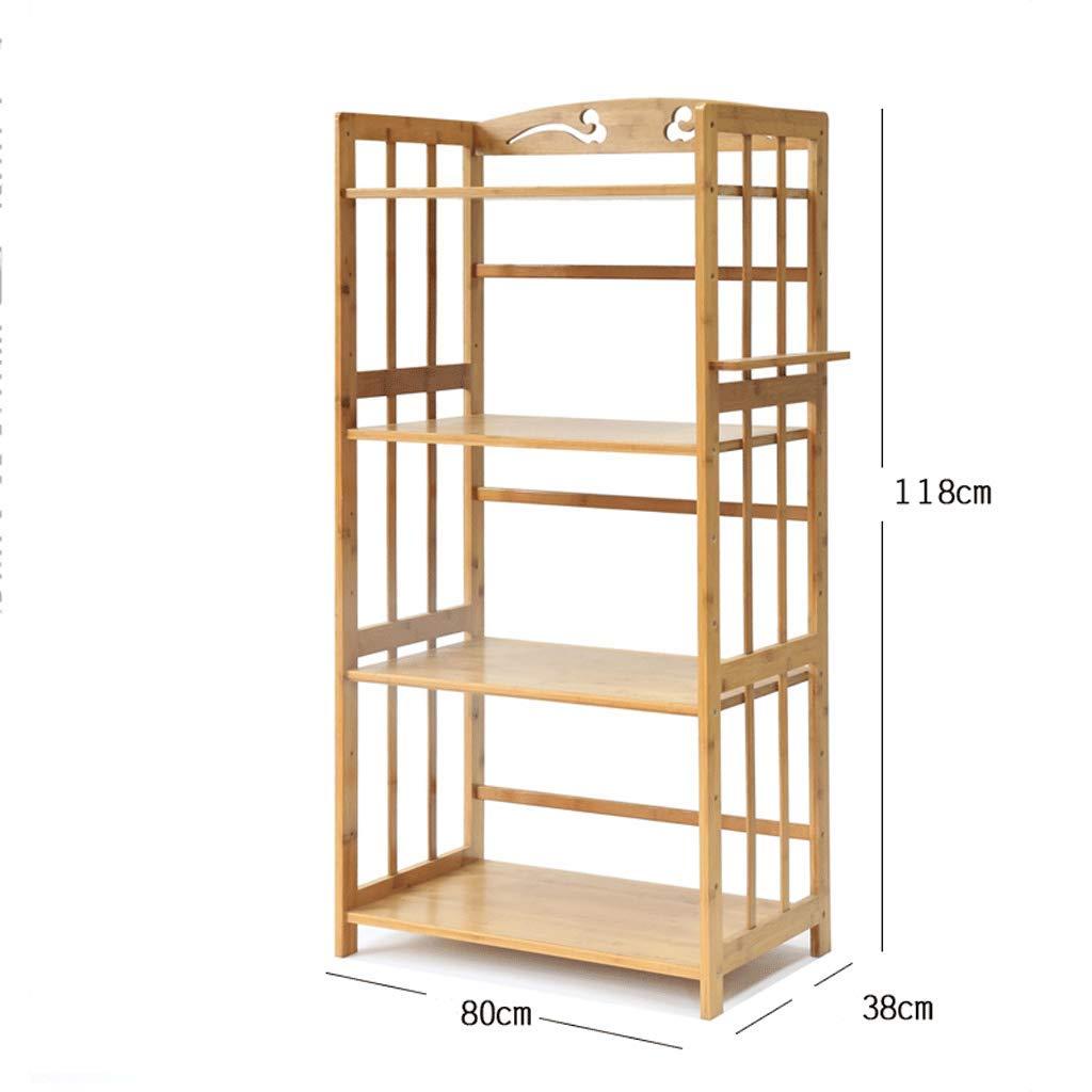 CCF Regal-Mikrowellenherd-Regal-Küchen-Wohnzimmer-Schlafzimmer-Boden-Stand-Bambusholz-Regal-Speicher-Regal CCFSF  8038118CM