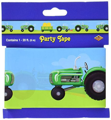 Tractor Party Tape Party Accessory (1 count) -