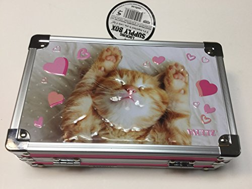 - Vaultz Locking Pencil Supply Box Love Kitten