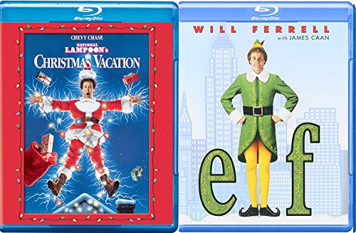 A Christmas Elf Double Feature Movie National Lampoon's Christmas Vacation Comedy Holiday Will Ferrell Chevy Chase - Mall High Santa Street