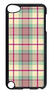 Brian114 Case, iPod Touch 5 Case, iPod Touch 5th Case Cover, Classical Plaid Retro Protective Hard PC Back Case for iPod Touch 5 ( Black )