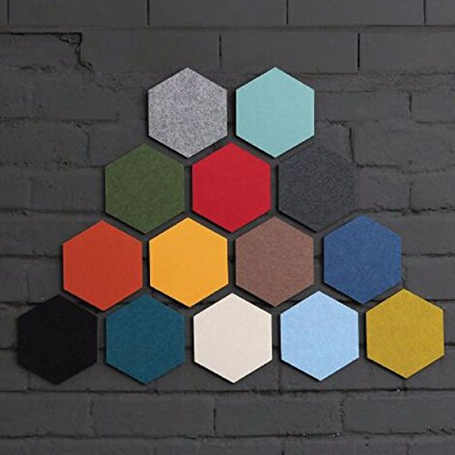 Wall Art - Honana Dx-149 Creative Colorful Hexagon Wool Felt Multifunctional Wall Sticker Smart Collect Board - Felt Board Hexagon Wool Sticker - 1PCs
