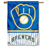 WinCraft Milwaukee Brewers Pinstripes Glove Two Sided House Flag