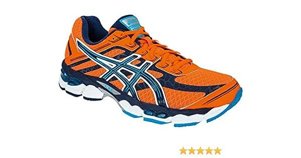 Asics - Zapatillas asics cumulus 15 para hombre, talla 45, color naranja / azúl: Amazon.es: Zapatos y complementos