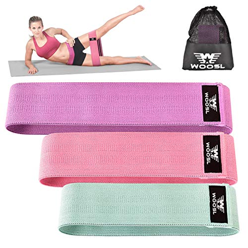 WOOSL Resistance Bands Loop Exercise Bands Booty Bands Workout Bands Hip Bands Wide Resistance Bands for Legs and Butt Resistance Bands for Legs and Butt Hip Booty Bands Circle Hip Resistance Band
