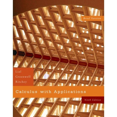 Calculus with Applications Brief & Ssm Pkg