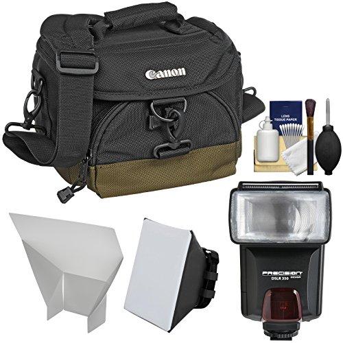 Canon 100EG Digital SLR Camera Case - Gadget Bag + Flash + Soft Box + Reflector Kit for EOS 6D, 7D, 77D, 80D, 5D Mark II III IV, Rebel T6, T6i, T6s, T7i, SL1, SL2 by Canon
